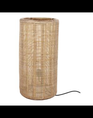 Van der Leeden Tafellamp fijn geweven bamboe - (D)40 x (H)80 cm