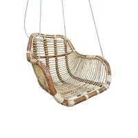 Rotan hangstoel Fly - (L)66 x (B)65 x (H)49 cm - Steel Wire