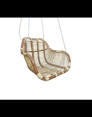 Van der Leeden Rotan hangstoel Fly - (L)66 x (B)65 x (H)49 cm - Steel Wire