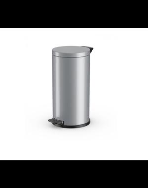 Hailo Pedaalemmer Solid L - 18 liter - Zilver