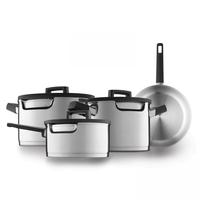 Downdraft kookpannenset - 4 delig - RVS - Veilig afgietsysteem