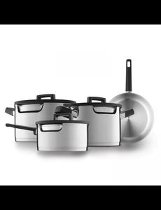 BergHOFF Downdraft kookpannenset - 4 delig - RVS - Veilig afgietsysteem