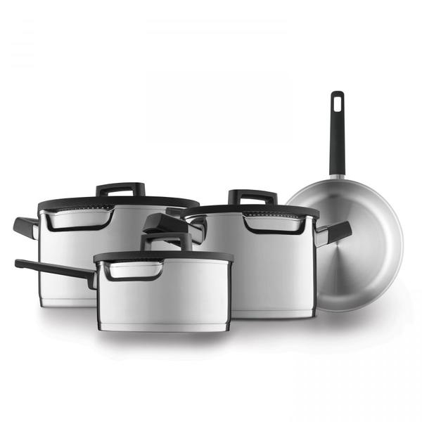 BergHOFF BergHOFF Downdraft kookpannenset - 4 delig - RVS - Veilig afgietsysteem
