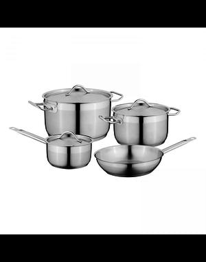 BergHOFF Essentials Kookpannenset - 4 delig - RVS