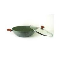 Natura Induction Wokpan - 32 cm  - met glazen deksel