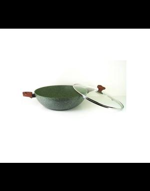 TVS Natura Natura Induction Wokpan - 32 cm  - met glazen deksel