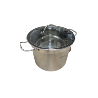 Soeppan - 9 liter - RVS - met glazen deksel