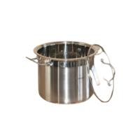 Soeppan - 11 liter - RVS - met glazen deksel