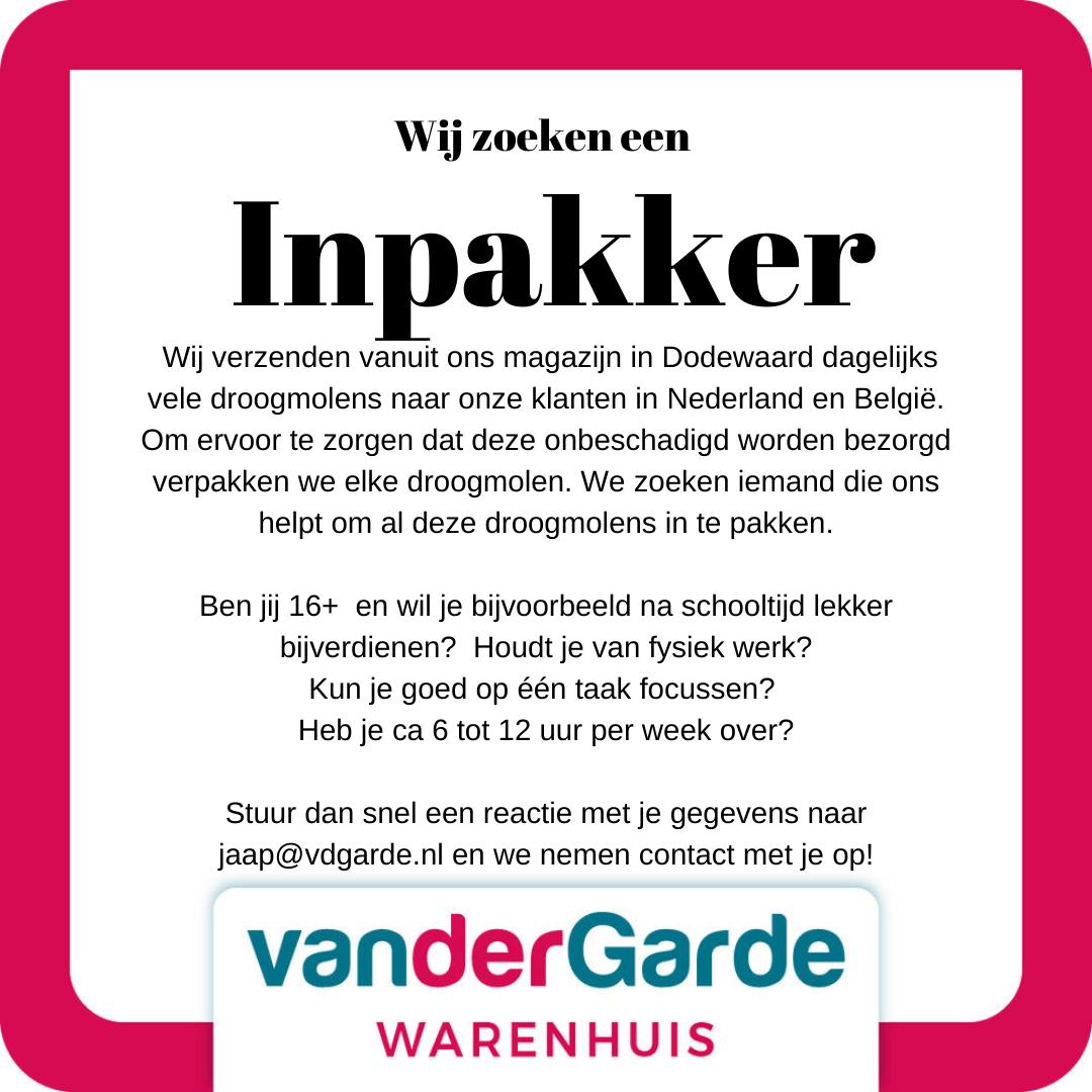 Vacature Inpakker
