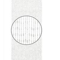 Vliegengordijn Charlotte - 240x100 cm - Transparant/Wit