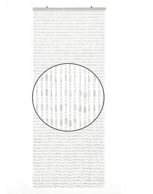 Wicotex Vliegengordijn Charlotte - 240x100 cm - Transparant/Wit