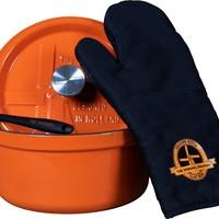 Premium Braadpan - Oranje - 24 cm - Gietijzer