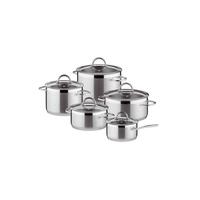 Vision Kookpannenset - 5 delig - RVS - met glazen deksels