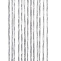 Vliegengordijn Marloes - 100x240 cm - Transparant/Zwart