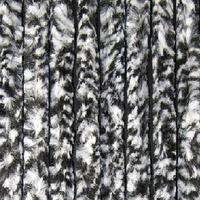 Vliegengordijn Kattenstaart - Zwart/Wit - Gemêleerd