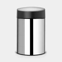 Slide Bin wandafvalemmer 5ltr Brilliant Steel/Black
