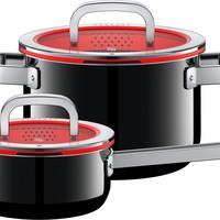 FusionTec Functional Kookpannenset - 2 delig - Zwart