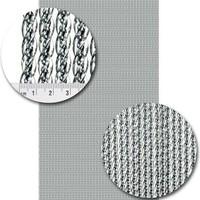 Venetië Vliegengordijn - 100x240 cm - Transparant met zilveren kern