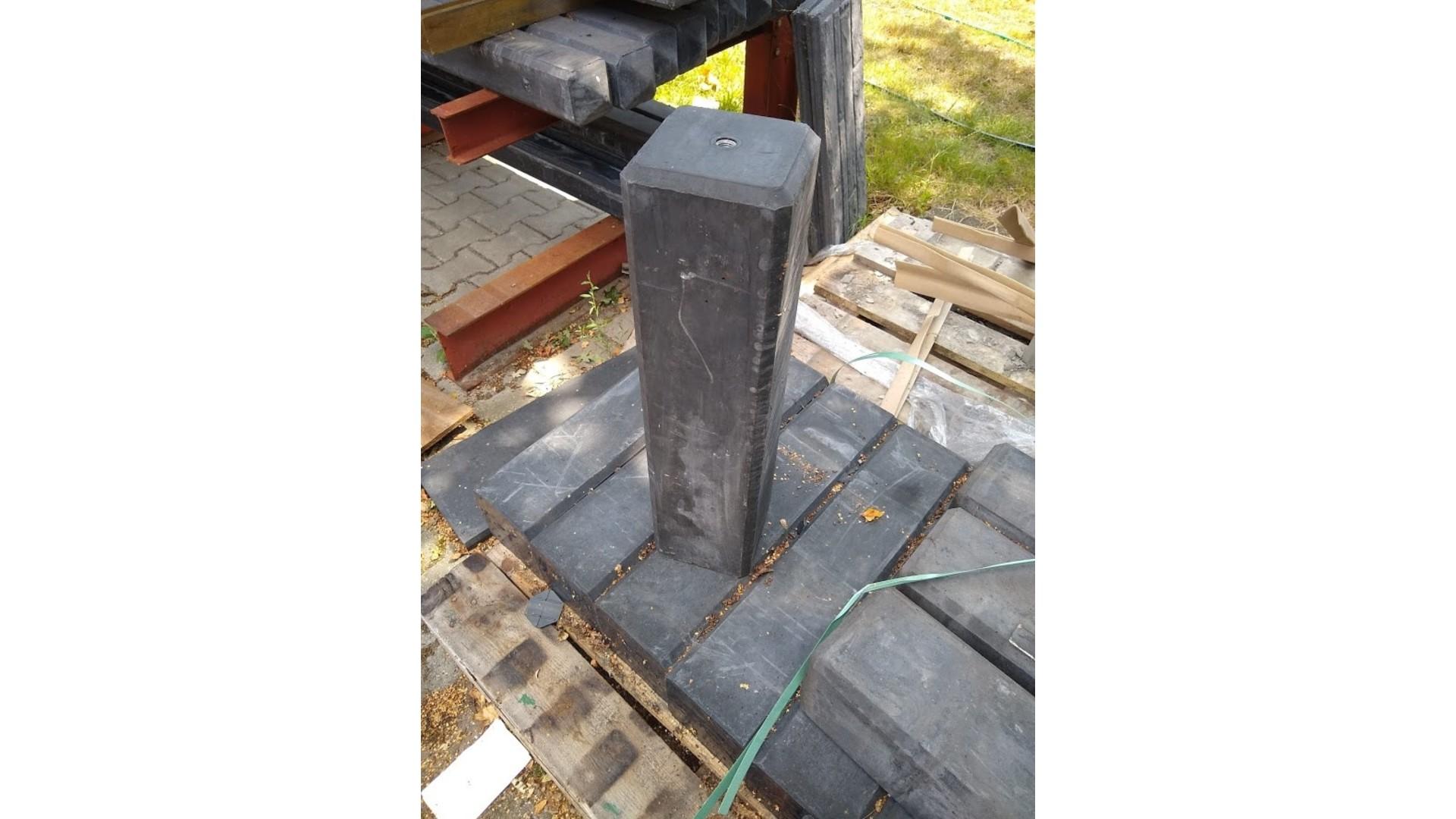 Betonpoer recht 15x15x60 cm