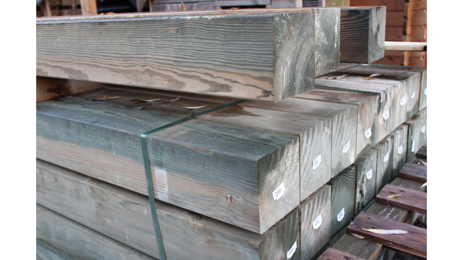 Grenen paal 14x14 cm 300 cm