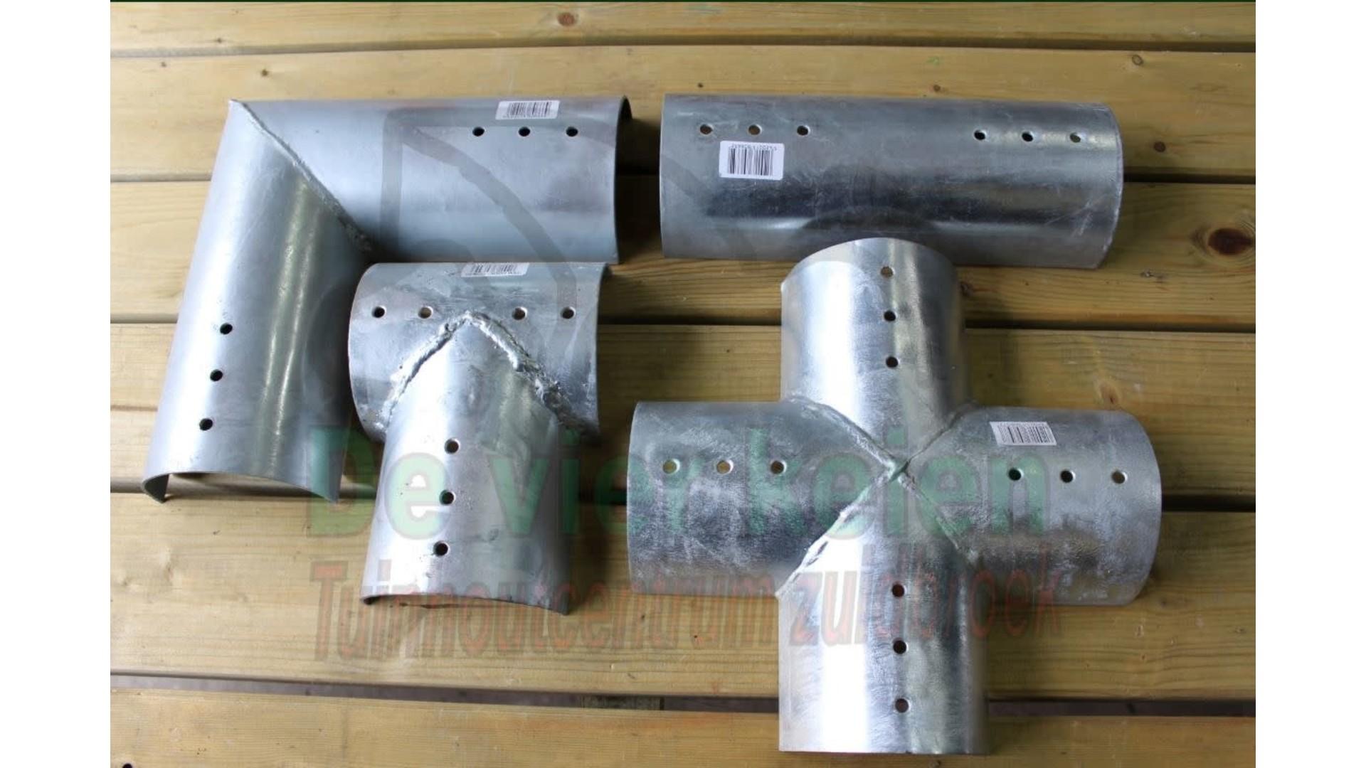 Rondhout verbindingstuk 10 cm (set = 2 st)