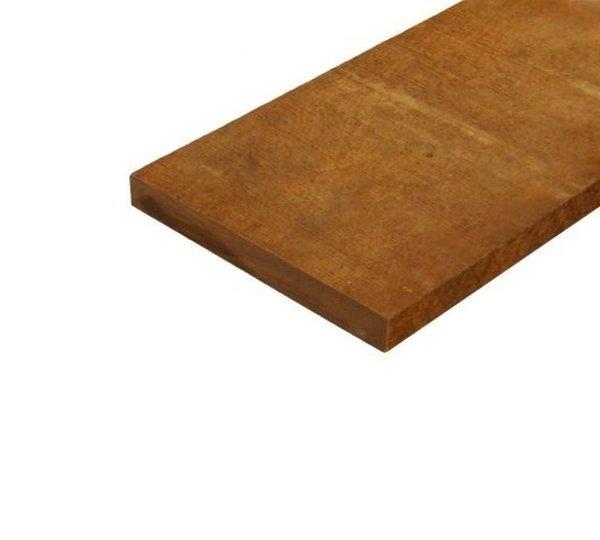 Hardhout plank  2x20 cm - 450 cm