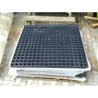 Gaaspaneel zwart maas 10x10 cm