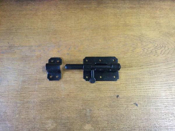 Plaatgrendel schuif 90mm Zwart