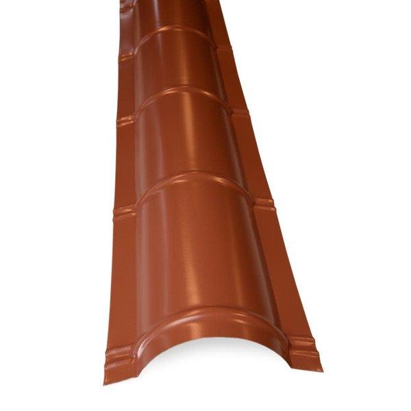 Dakpanplaat Nok stuk half rond 2m werkende lengte