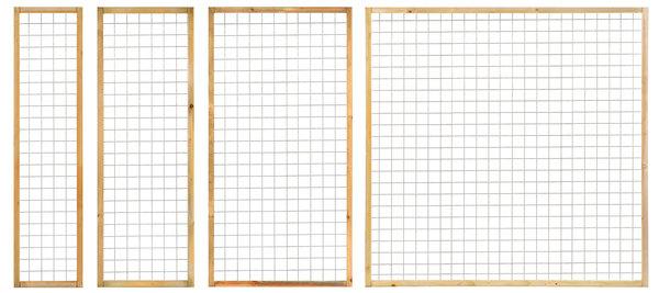Gaaspaneel trellis verzinkt met houten lijst 4.5x4.5cm