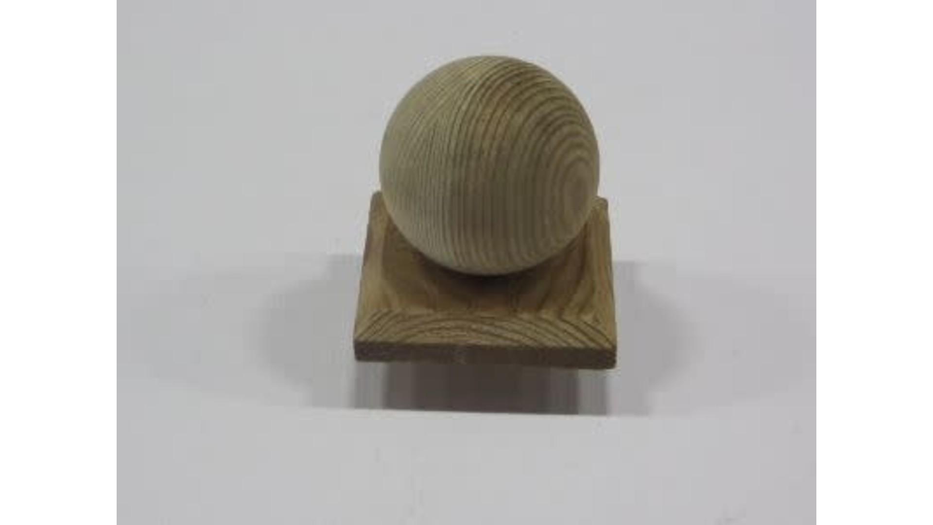 Paalkap 8x8 cm bol-hout