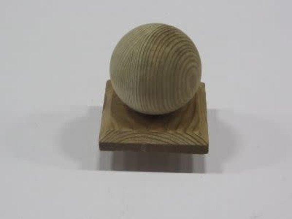 Bol op plaat 10x10 cm hout