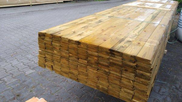 Dakbeschot Vuren Vellingdeel geïmpregneerd  1.6x9.5 cm