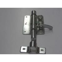 Plaatgrendel Schuif 100x70mm met dubbel hangslotgat
