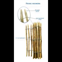 Kastanje Hekwerk latafstand 4-5 cm, 120 cm hoog, 500 cm lang
