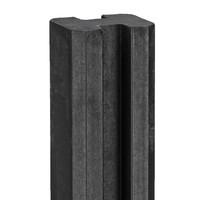 Betonpaal antraciet 280 cm 11.5x11.5cm rechte kop voor scherm sleufpaal