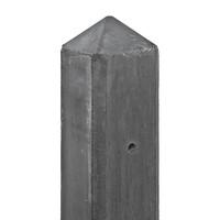 Betonpaal Antraciet 10x10x280 cm Pyramidekop voor enkele onderplaat