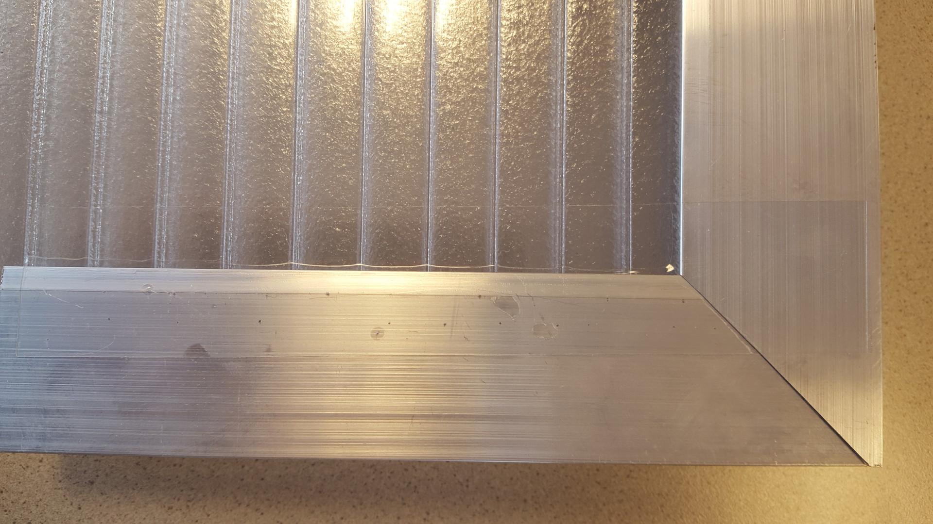 Polycarbonaat klik systeem doorzichtige tape 35mm per strekkende meter