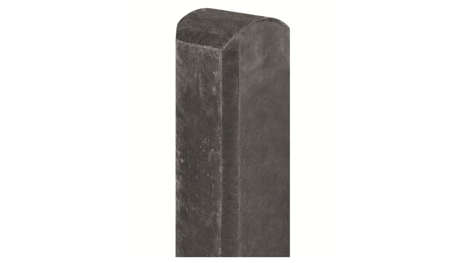 Betonpaal Antraciet 280 cm halfrondekop voor enkele onderplaat Tussenmodel