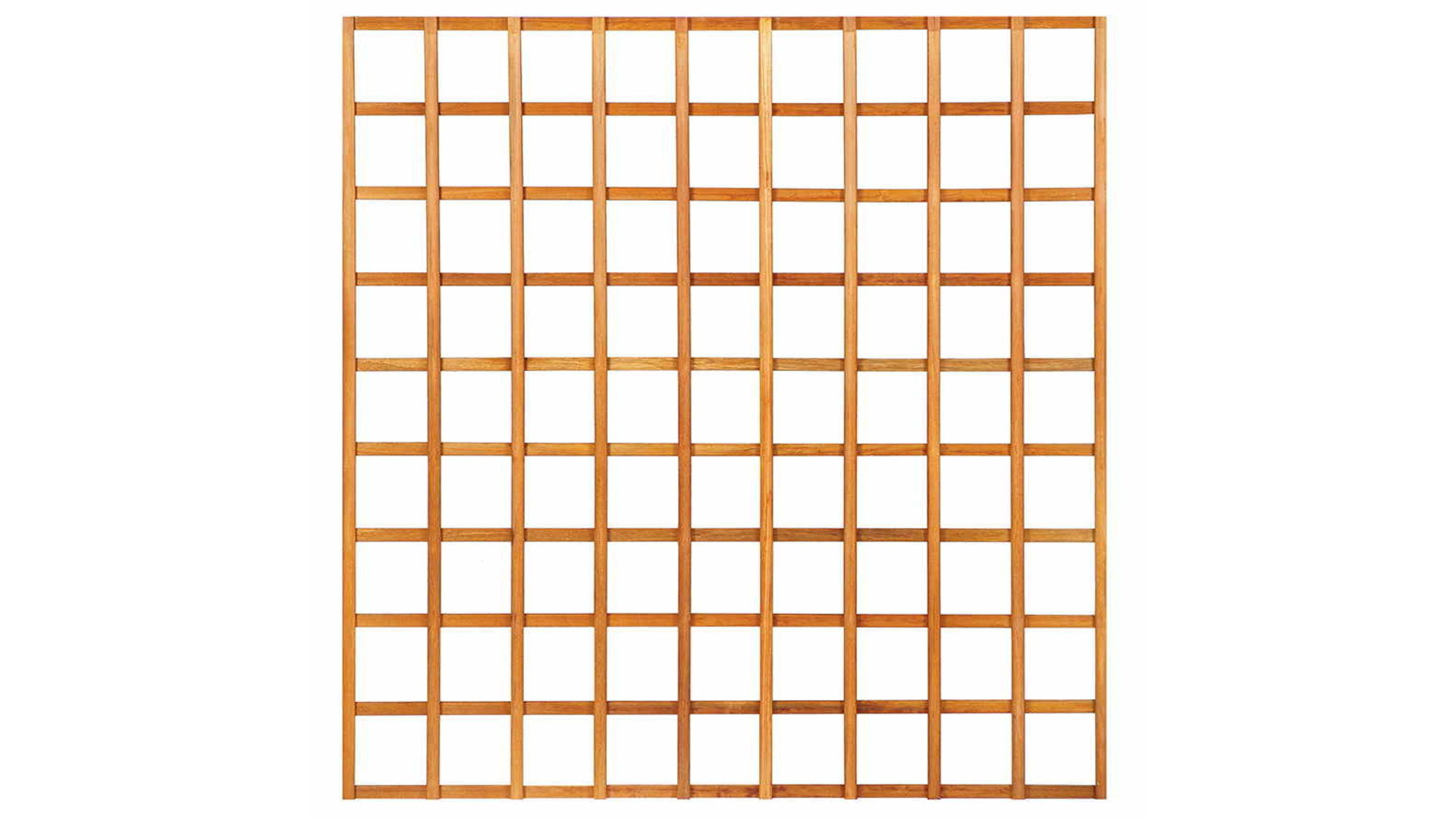 Houten Trellis met lijst 180x180 cm recht zonder lijst lamel