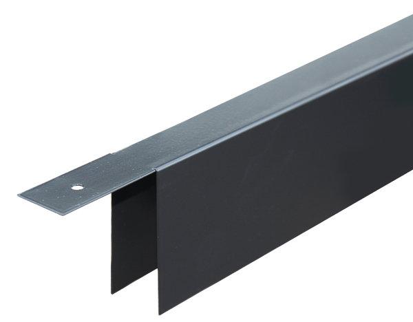 U profiel voor stapelplanken Zwart 180 cm