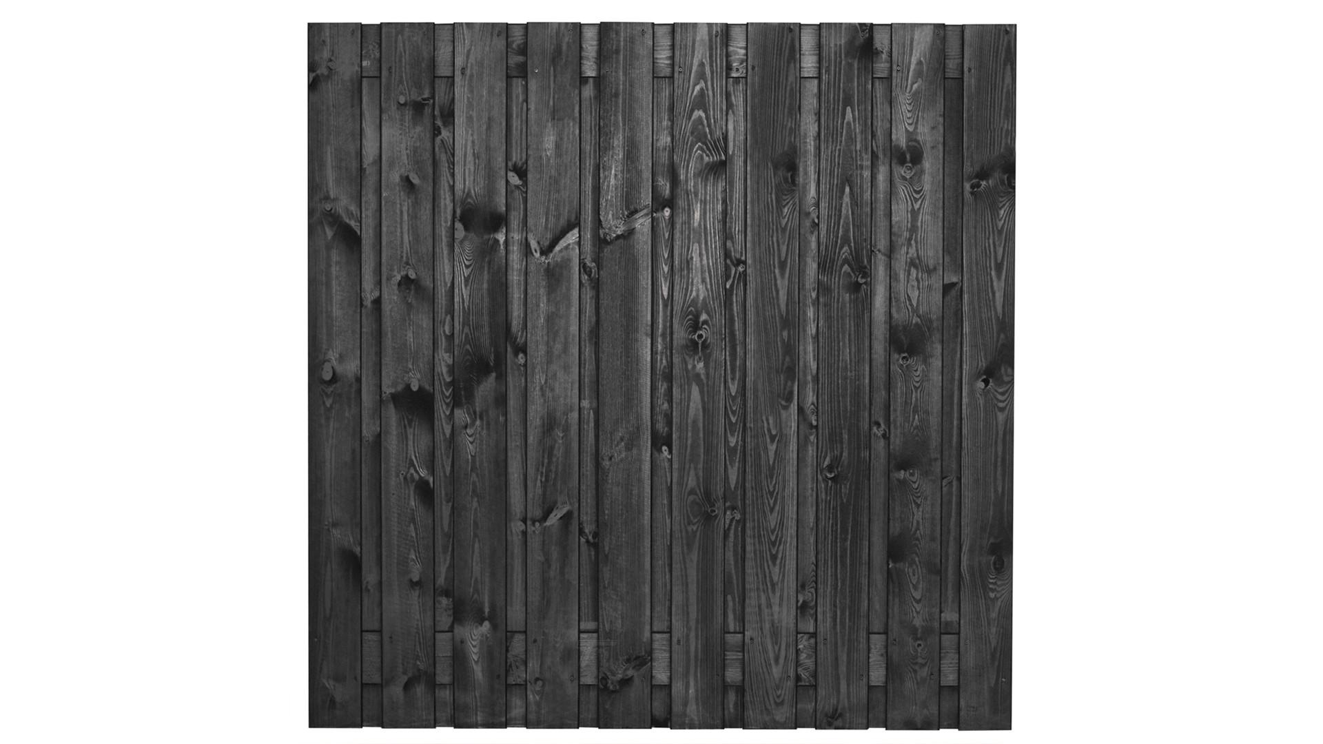 Tuinscherm zwart 19 planks Stuttgart 180x180 cm