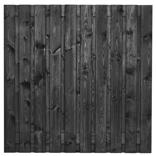 Tuinscherm zwart 19 planks Stuttgart 180x180cm