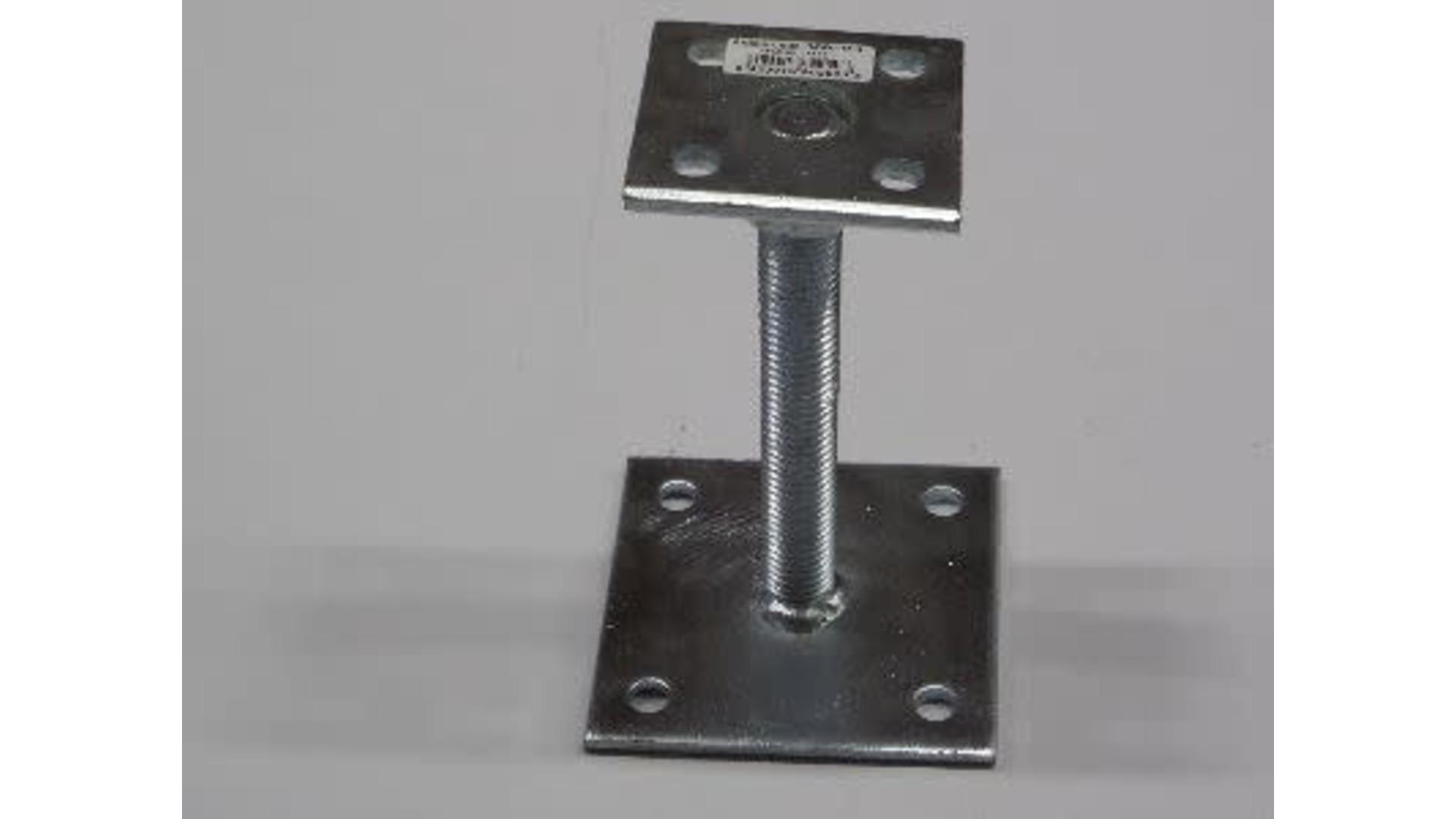 Verstelbaar paaldrager 7x7 > 10x10 cm