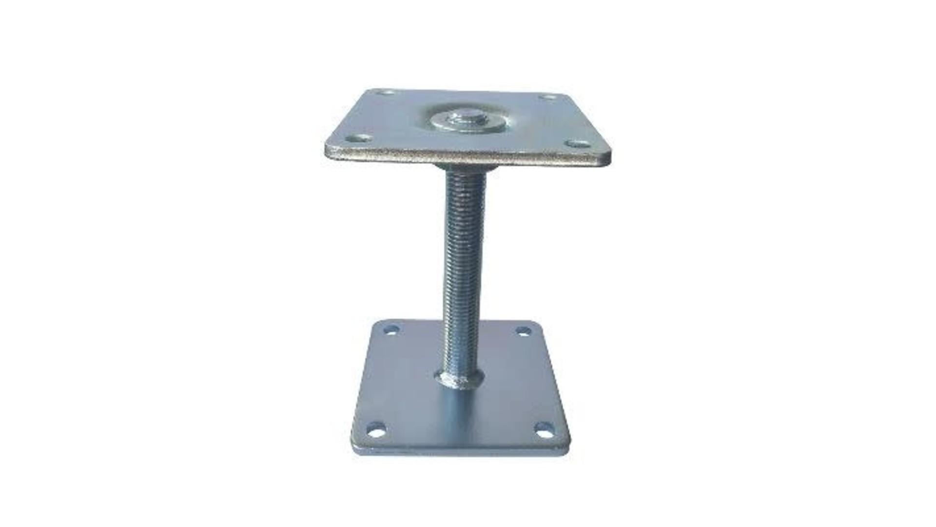 Verstelbaar paaldrager 11x11 cm delux