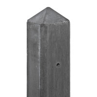 Betonpaal Antraciet 190 cm Pyramidekop voor enkele onderplaat