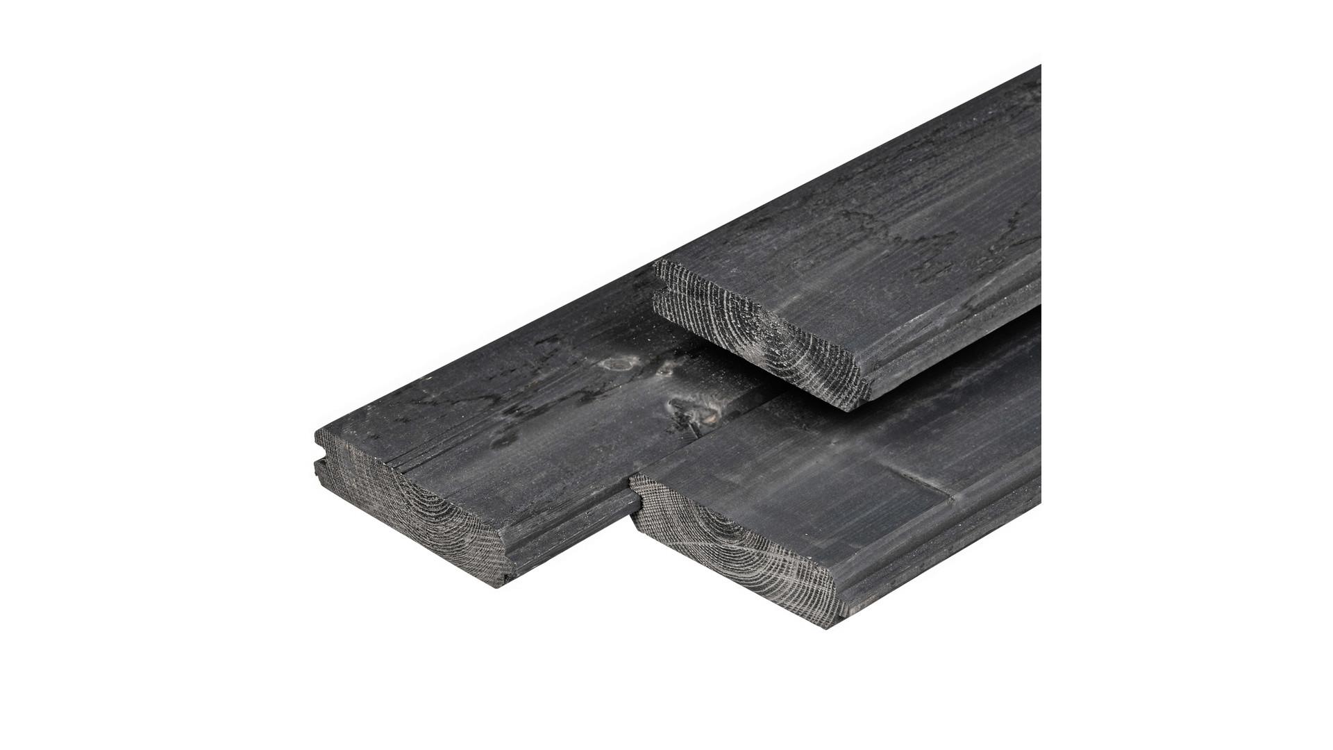 Blokhutprofiel Zwart vuren 2,8x12,1 cm