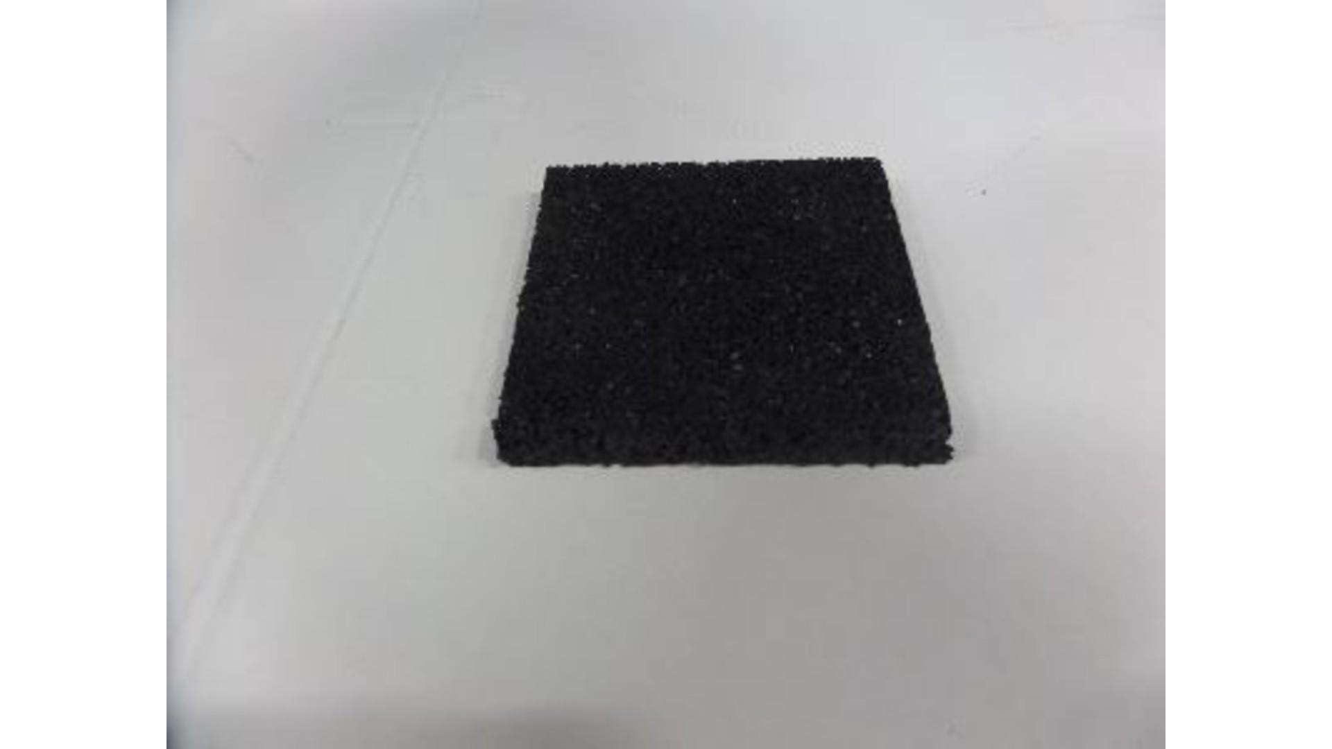 Rubberen tegeldrager 100x100x10 zwart