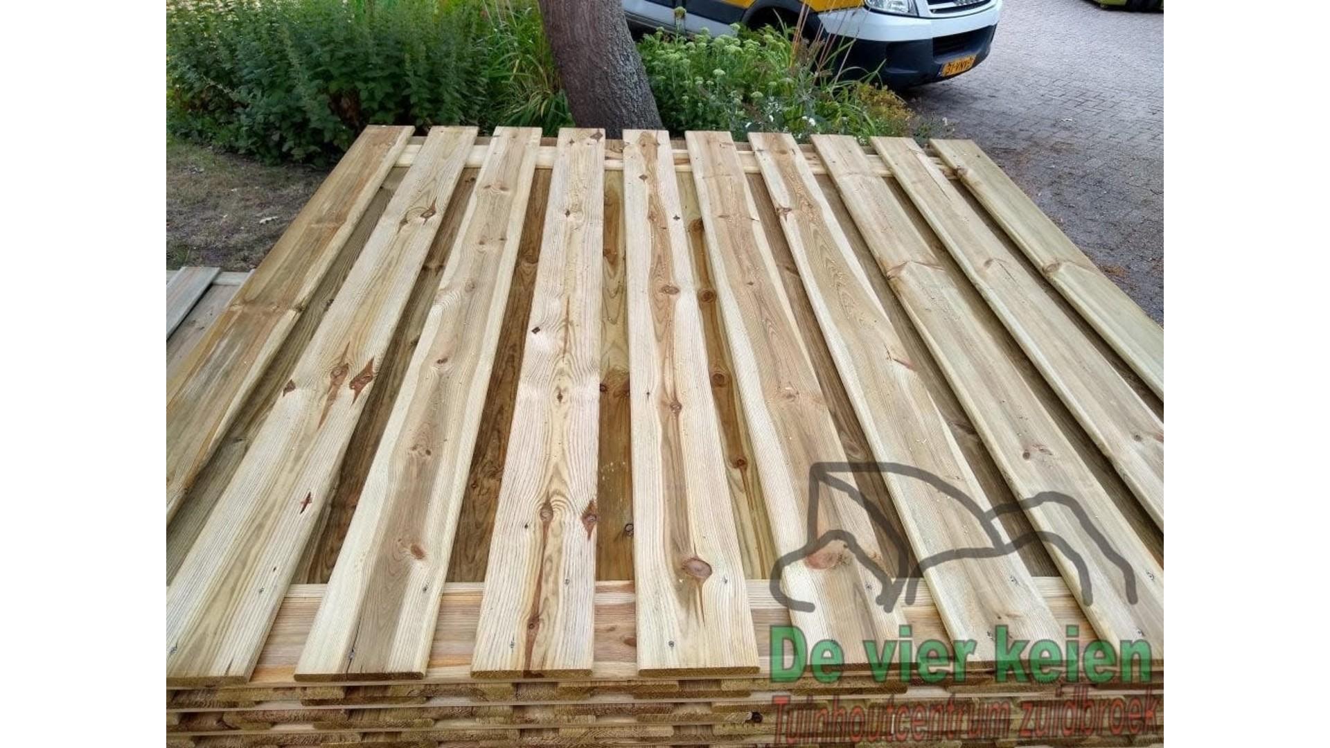 Tuinscherm Enschede grenen 19-planks