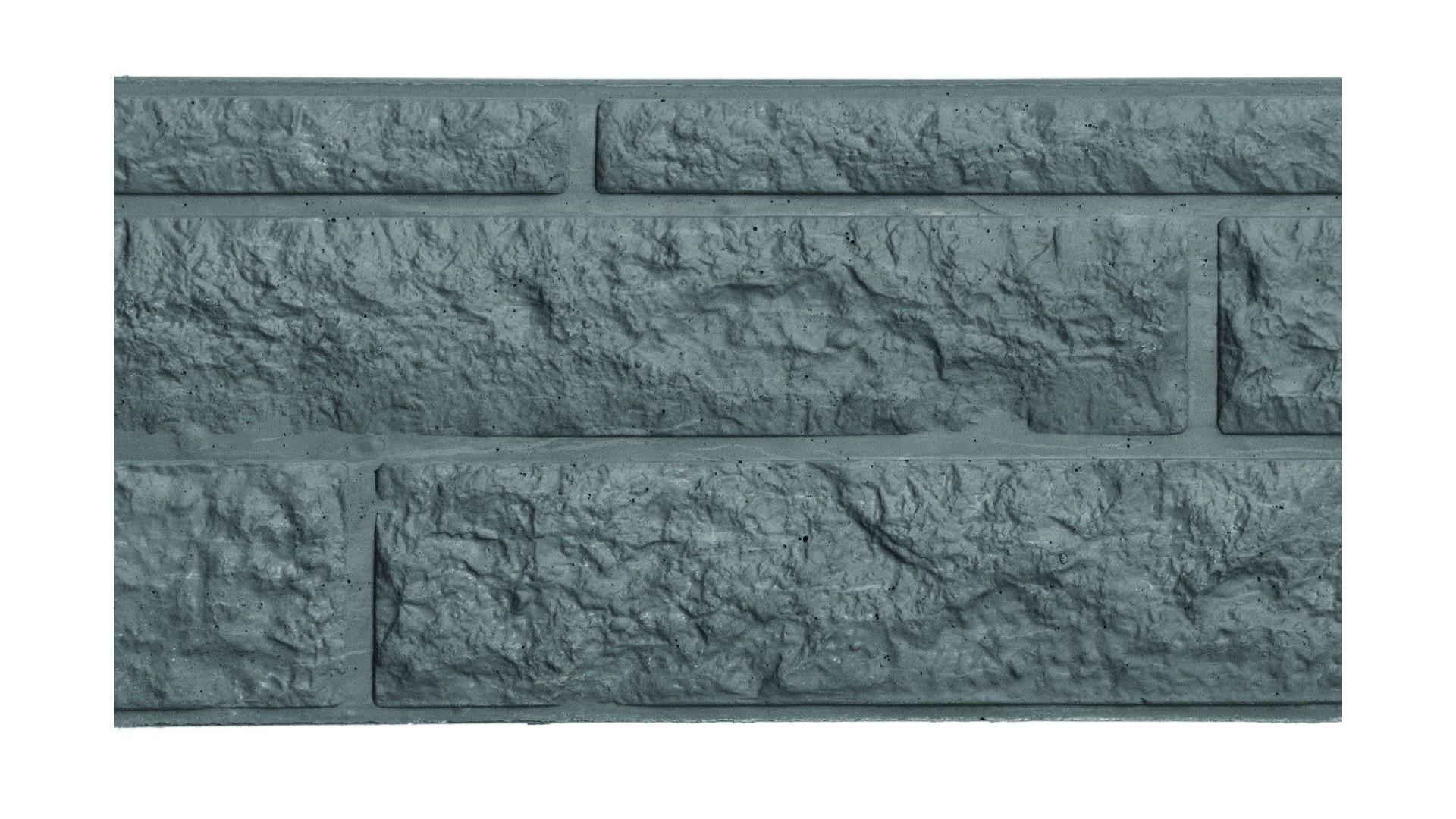 Betonnen onderplaat rotsmotief 26x184 antraciet